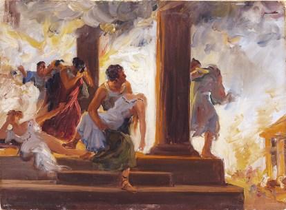 Incendio en Roma.