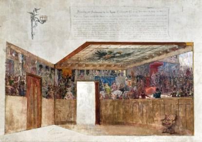 Proclamación de los Reyes Católicos en Segovia (boceto)