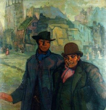 Dos chinos. ID 030. Corpus Online Museo Gustavo de Maeztu