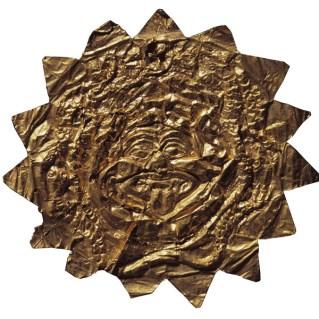 Placca in oro con Gorgoneion. Collezione Lancetti.