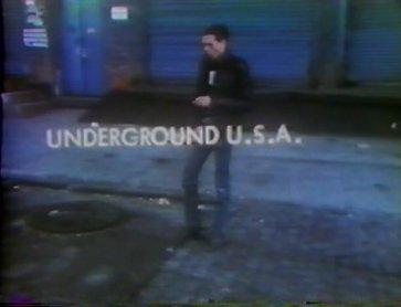 Eric Mitchell. Underground U.S.A. Vídeo, 1980. Cortesía de Eric Mitchell