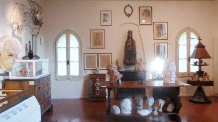 Casa Varoli primo piano, particolare degli allestimenti