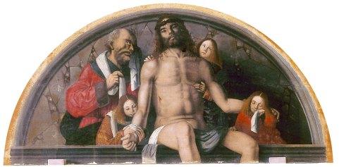 Francesco Zaganelli Pietà Tavola a forma di lunetta, cm 80x160 Cotignola RA Chiesa di San Francesco