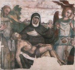 14 Girolamo Marchesi Pietà con i Santi Francesco, Michele Arcangelo e un donatore Affresco (trasportato su tela) cm 134,5x142,5 Cotignola RA Chiesa di San Francesco