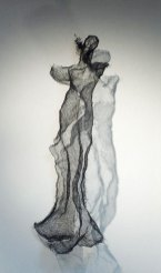Luigi Varoli Figura femminile, in rete metallica, alt cm 94