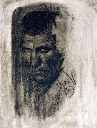 Luigi Varoli L'ergastolano (e Ganç), 1927, matrice litografica in pietra, 48x38cm