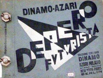 Il celebre libro futurista del 1927, rilegato con i bulloni (Editore Dinamo-Azari Milano), donato da Fortunato, Depero a Luigi Varoli