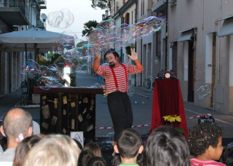 Eros Gambeinspalla teatro The Bubble Show