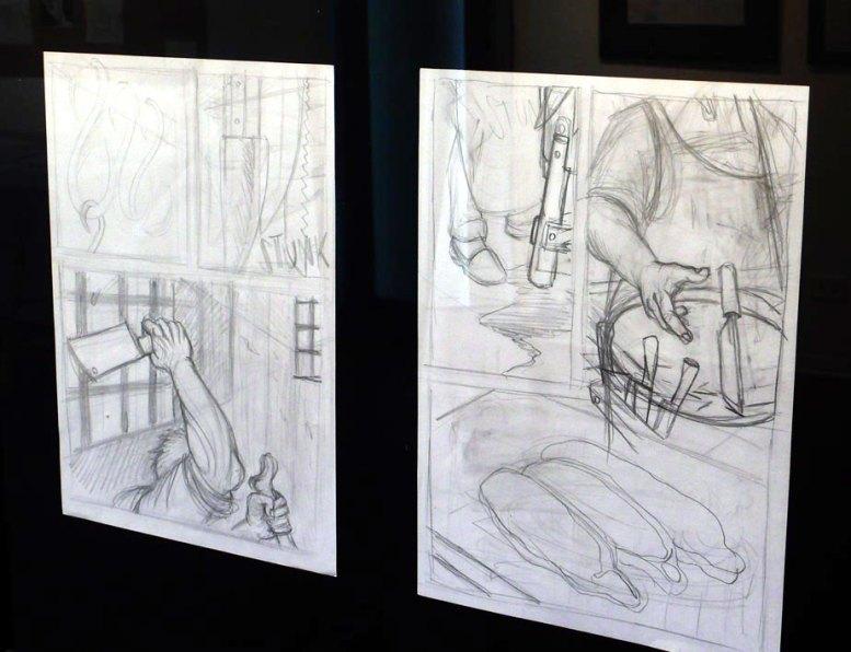 """Allestimento della mostra """"L'Argine"""""""