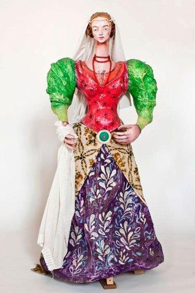 Pupazzo di Caterina Sforza