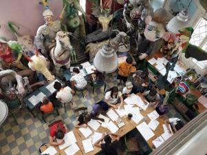 laboratorio di martoz alla scuola arti e mestieri /