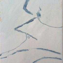n.99 Jacopo Casadei O. W. 2018 olio su tela 15x10 cm