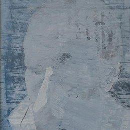 n.84 Lorenzo Di Lucido Io mi cancello, 2018, 48 x 33 cm, olio su carta applicata su tavola
