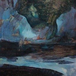 n.146 Alice Faloretti Grotta 2017 olio su carta 29x21cm