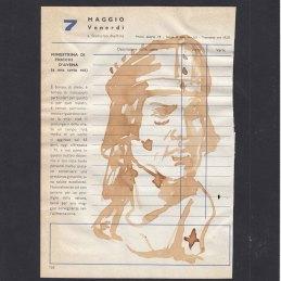 n.16 Collettivo Fx Santi e Ricette, S. Stanislao Martire, caffè su agenda anni settanta, cm15x20