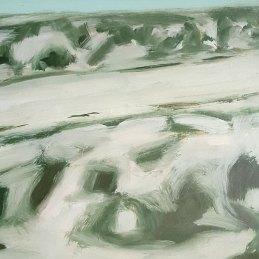 n.21 Alessandro Finocchiaro Il sentiero verso il fiume, 2014, olio su carta su tavola, cm 25×35