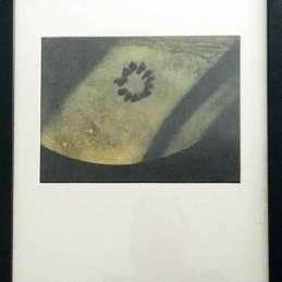 n.29 Elena Hamerski Oliotipo, 2017, olio di lino, pigmento nero, stampa fotografica su carta patinata, 19,5x26cm / 44x37cm