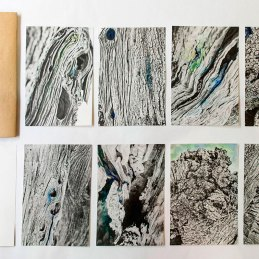 n.74, Gola Hundun, Olio santo funzine, 8 risografie colorate a mano, cm 15x21
