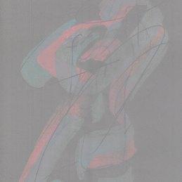 n.38 Ettore Pinelli Senza titolo (astrazione figurativista ver. grigia nº 2), 2020, tecnica mista su carta, 30x21cm