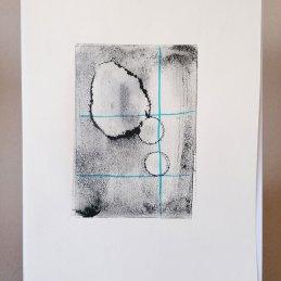 n.112 Luca Piovaccari Spore, 2020 Inchiostro su carta arcoprint avorio cm. 21x29,7 (immagine cm. 10,5x14)