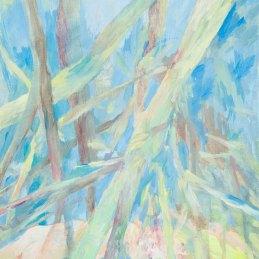 n.138 Julie Rebecca Poulain, Il sonno sotto l'albero, 2016, olio su carta, 24x33 cm