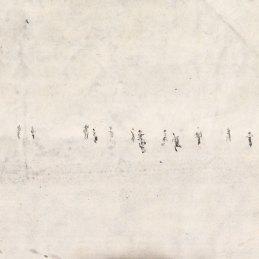 n.44 Enrico Tealdi Carta carrillon, tecnica mista su carta, 2017, cm 19,5x37,5