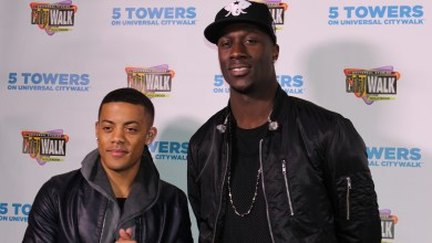 Photo of Duo Nico & Vinz, And Tinashe Rock Universal City Walk for Toys for Teens Charity
