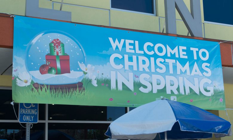 Christmas in Spring Universal Studios Hollywood