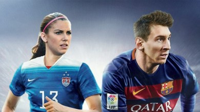 Photo of USWNT Champion Alex Morgan graces the FIFA 16 cover