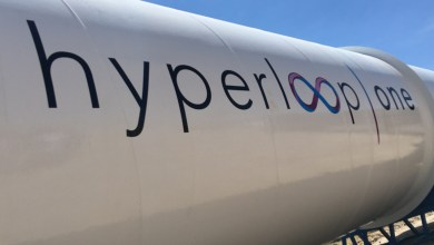 Hyperloop one tube LA Auto Show