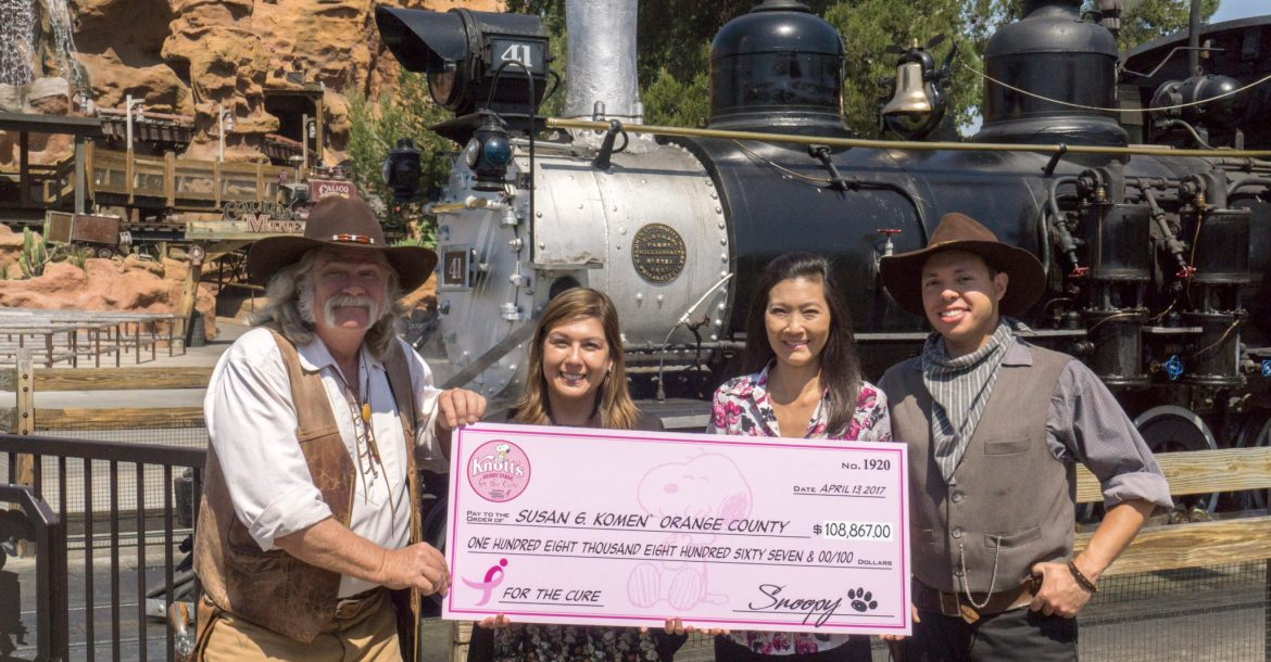 Knott's for the Cure Donation Photo 2
