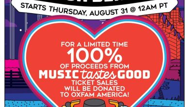 Photo of Music Tastes Good To Donate 100% of Proceeds from Every Ticket Sold To Oxfam America