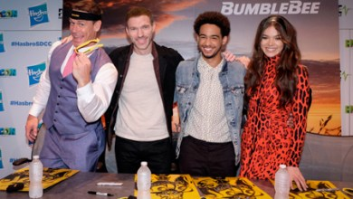 Photo of John Cena, Jorge Lendeborg Jr. and director Travis Knight talk about Bumblebee