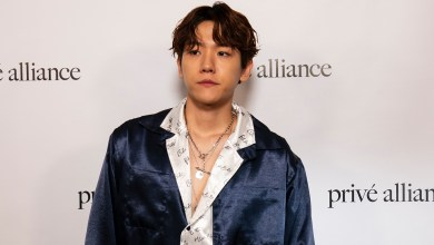 Photo of BaekHyun of KPOP Group EXO at Prive Alliance Fashion Event