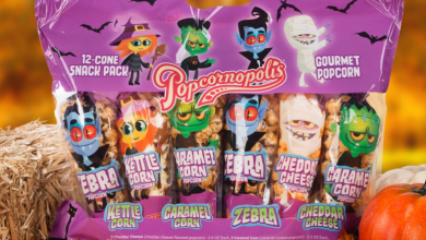 Popcornopolis Halloween themed Mini Cone Snack Pack