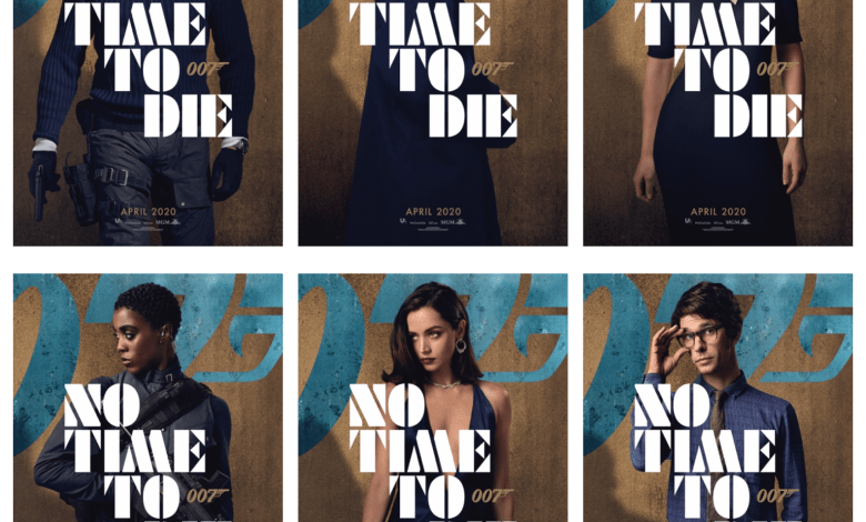 Bond 25 No Time To Die Character POSTERS