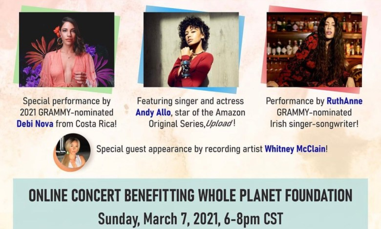 Debi Nova, Cameroon singer and actress Andy Allo, Irish singer Ruth Anne, and singer Whitney McClain