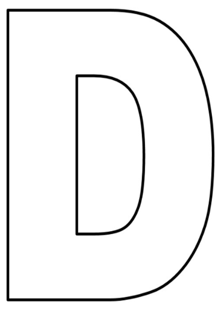 Moldes De Letras Grandes Para Imprimir Eva