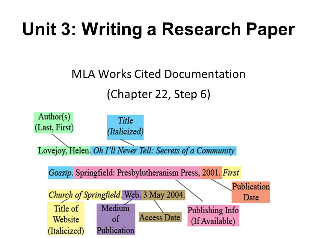 012 Mla In Text Citation Practice Worksheet Research Paper