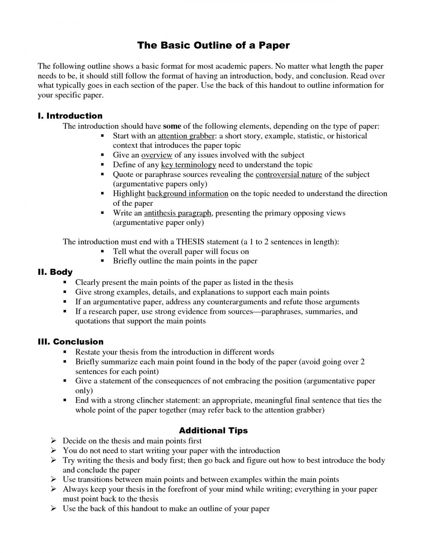 012 Example Outline For Research Paper Apa Style Format
