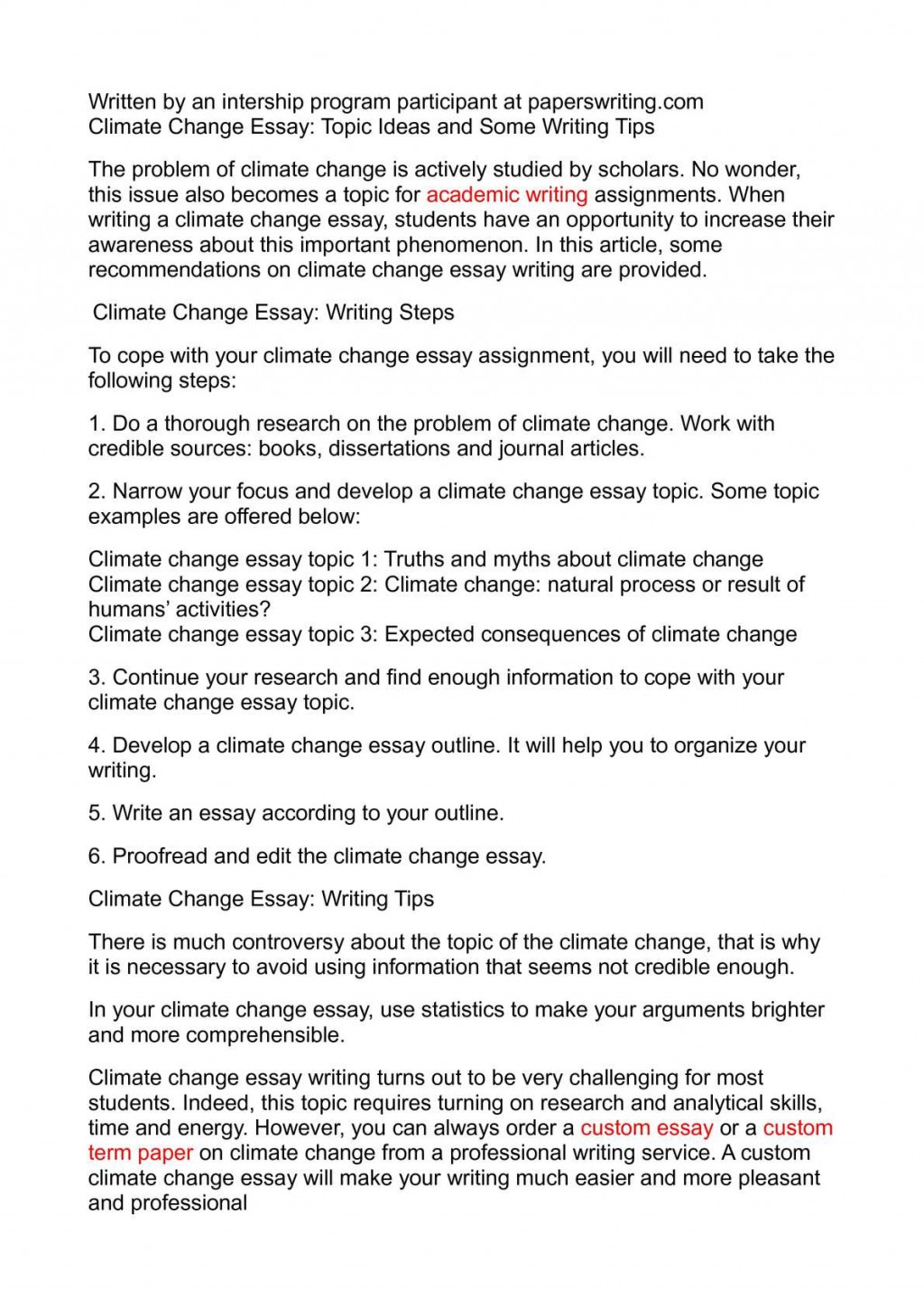 022 Research Paper Academic Ideas Climate Change Essay