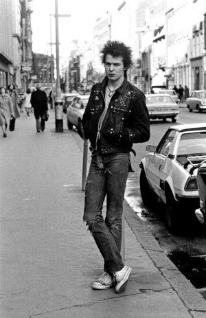 Punk style; Sid Vicious, 1977