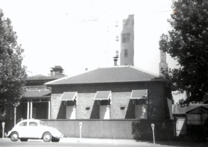 The old Colonial Store building, circa 1960.