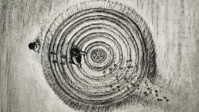 Artist's impression of the Grange Reserve UFO landing site