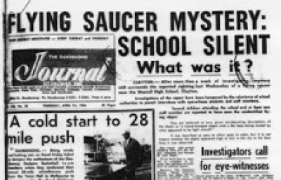 The Westall UFO sighting reported in the newspaper