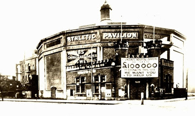 The former Cyclorama in Fitzroy, now used as an athletics pavilion
