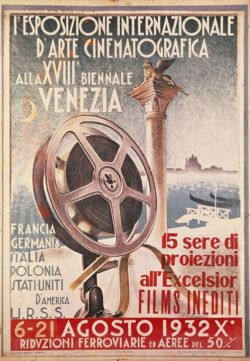 Poster for the first Venice Film Festival