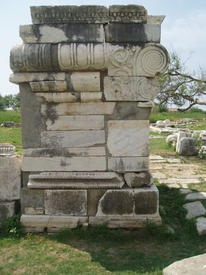 Anicent ruins on the Greek island of Samos