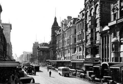 Swanston Street, 1920s