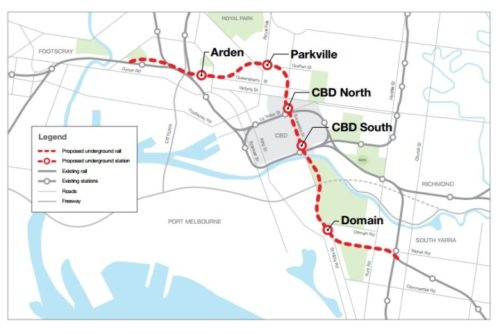 Graphic for the Metro Rail Project